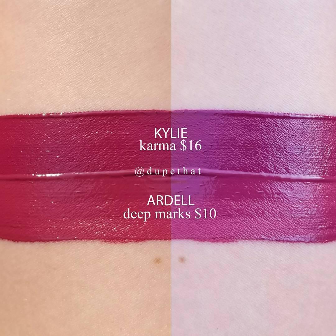 Kylie Cosmetics Karma Velvet Liquid Lipstick Dupes All