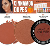 Kylie Cosmetics Cinnamon Eyeshadow Dupes [Royal Peach Palette]