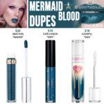 Jeffree Star Mermaid Blood Velour Liquid Lipstick Dupes