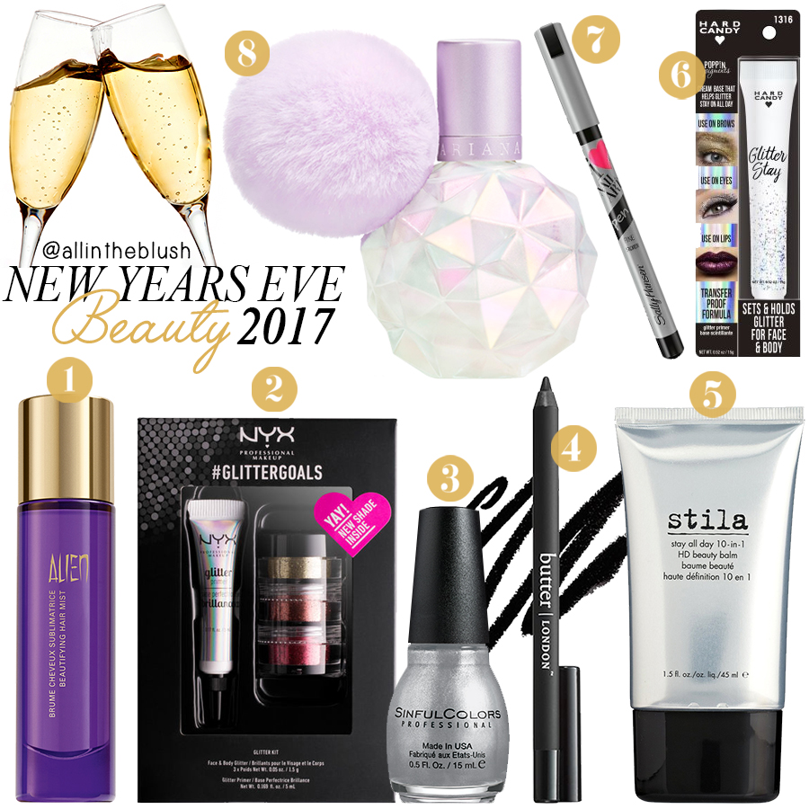 New Years Eve Beauty Essentials 2017
