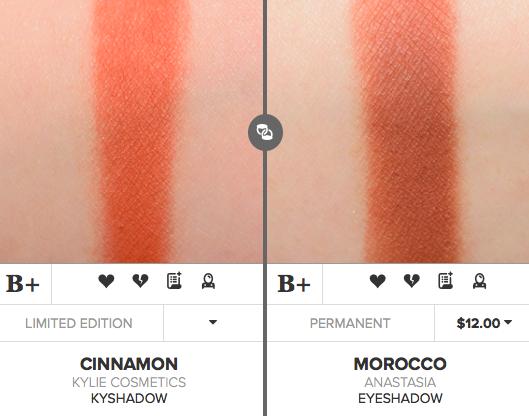 Kylie Cosmetics Cinnamon Eyeshadow Dupes [Royal Peach Palette]