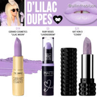 Lime Crime D'Lilac Unicorn Lipstick Dupes