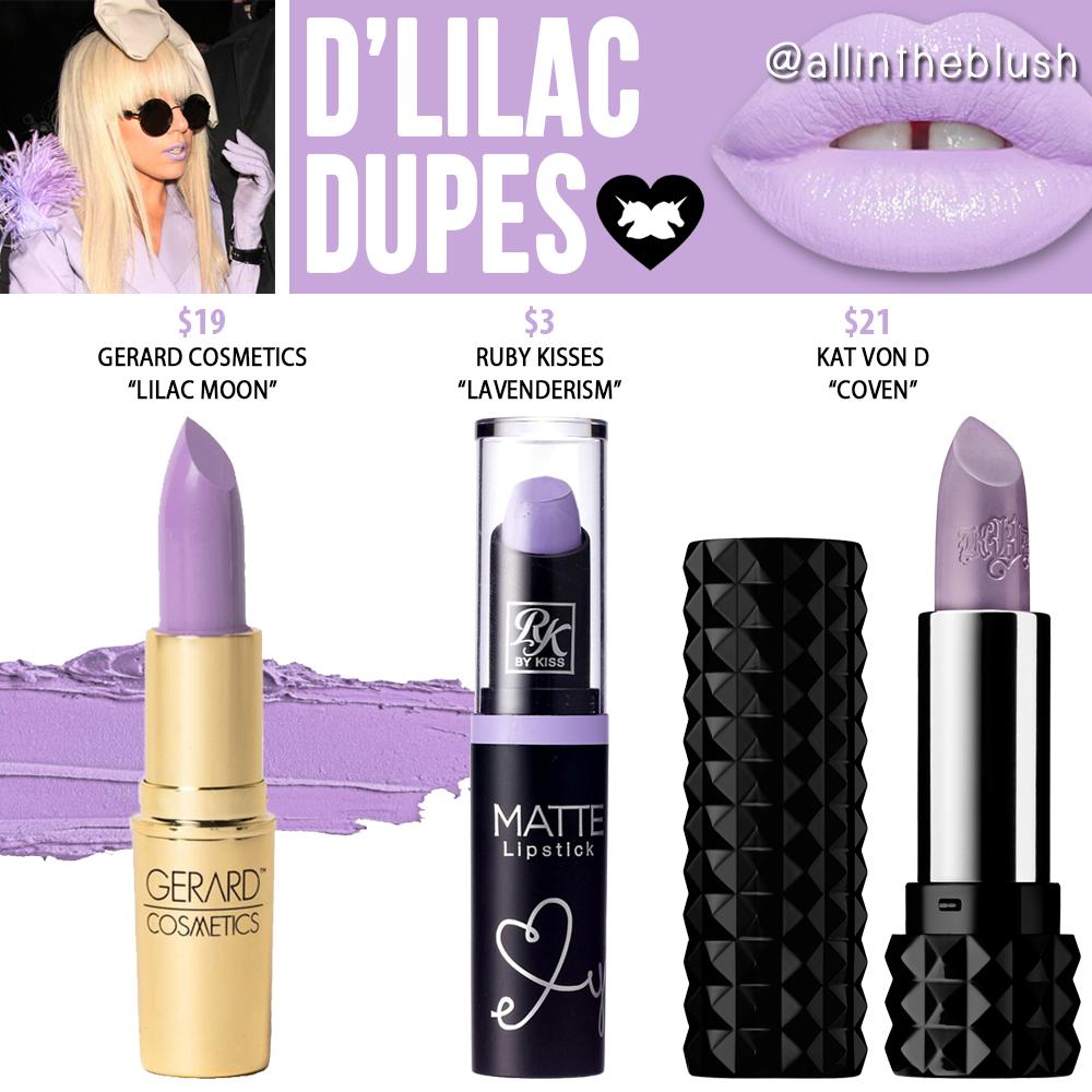 Lime Crime D Lilac Unicorn Lipstick Dupes