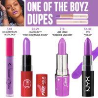 Fenty Beauty 'One of the Boyz' Mattemoiselle Plush Matte Lipstick Dupes