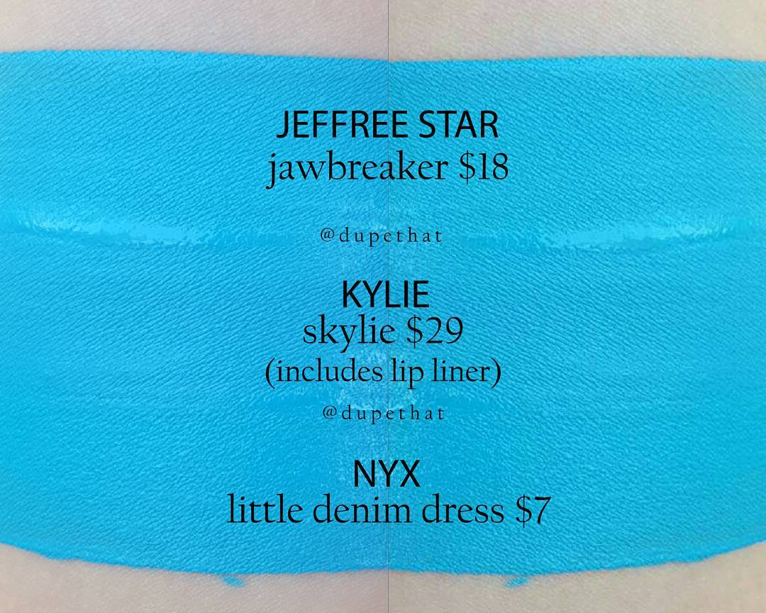 Kylie Cosmetics Skylie Liquid Lipstick Dupes
