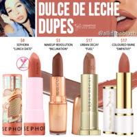 Kylie Cosmetics Dulce de Leche Silver Series Lipstick Dupes