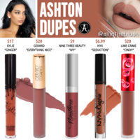 Anastasia Beverly Hills Ashton Liquid Lipstick Dupes