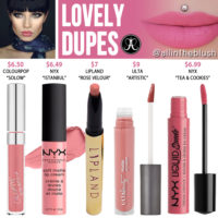 Anastasia Beverly Hills Lovely Liquid Lipstick Dupes