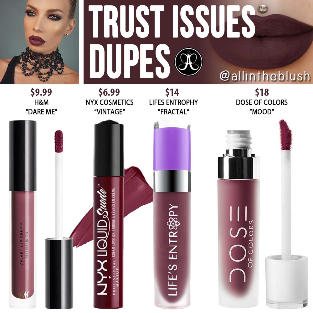 Anastasia Beverly Hills Poet Liquid Lipstick Dupes - All