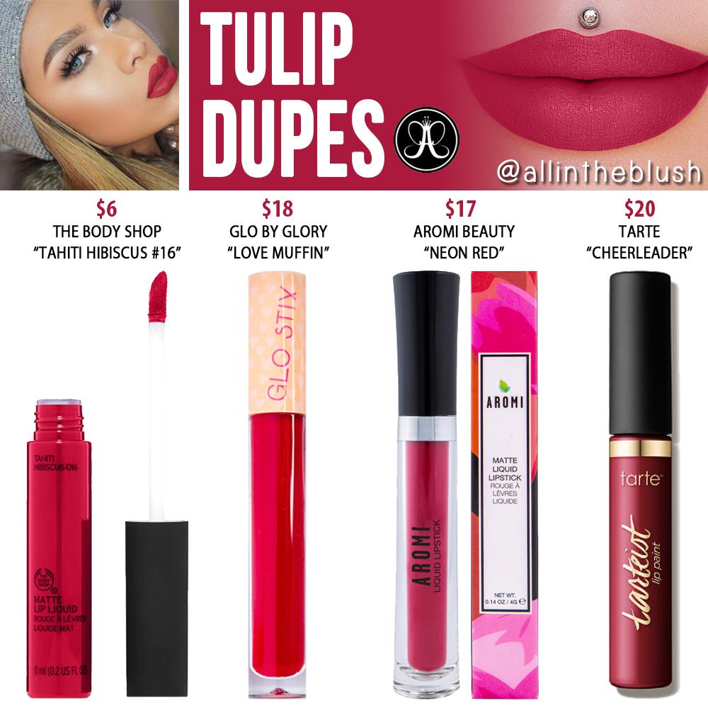 Anastasia Beverly Hills Tulip Liquid Lipstick Dupes