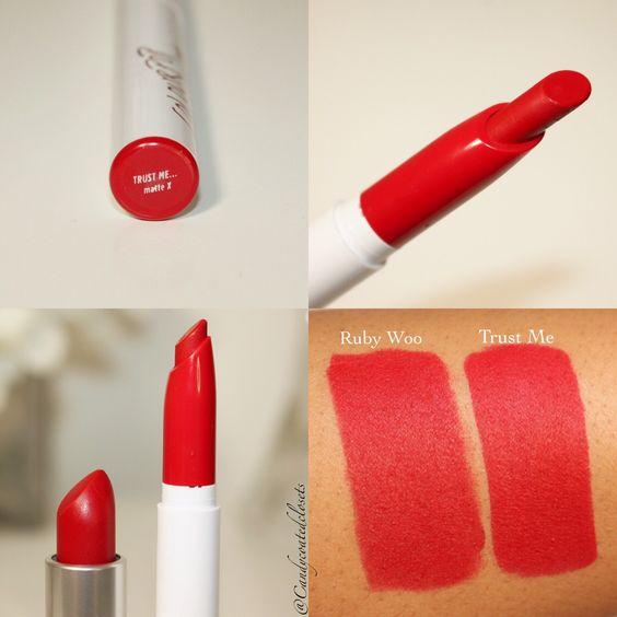 MAC Ruby Woo Lipstick Dupes