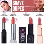 MAC Brave Lipstick Dupes