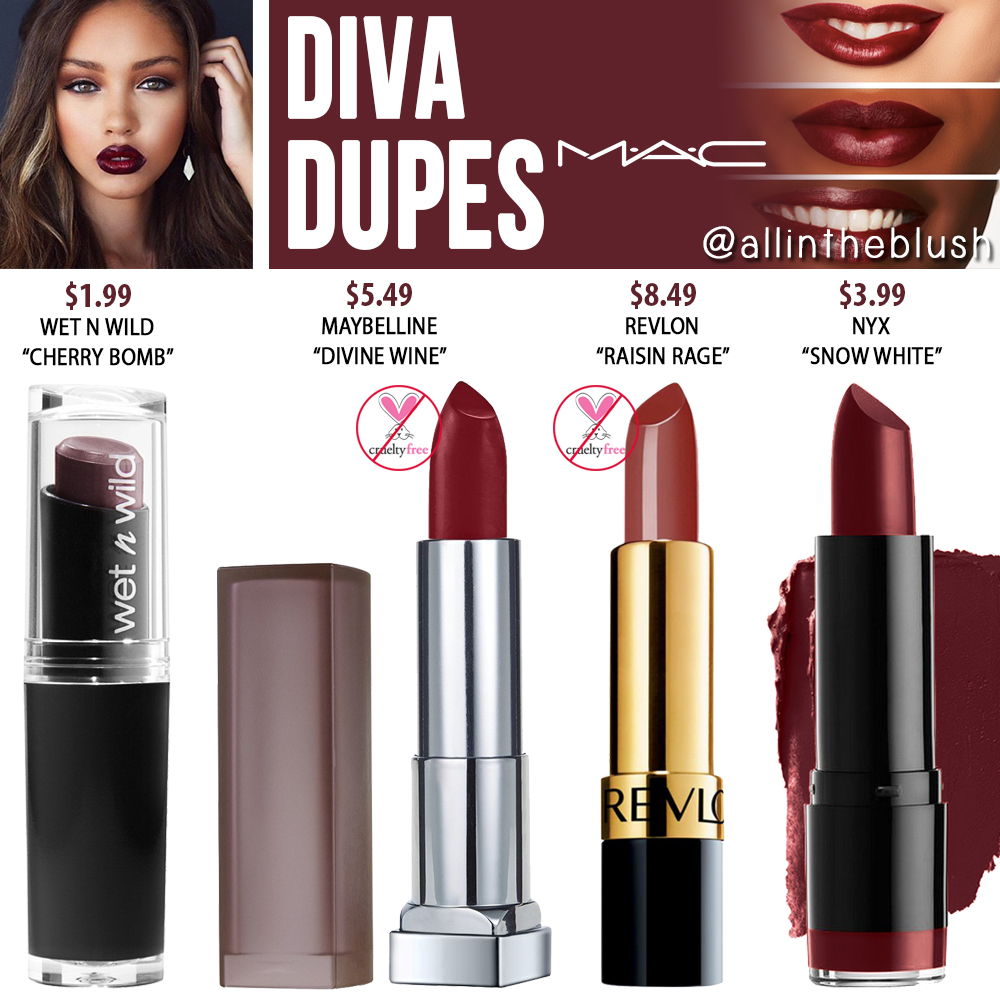 MAC Diva Lipstick Dupes - All In The Blush
