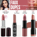 MAC Faux Lipstick Dupes