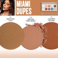 KWW Beauty x Mario Miami Eyeshadow Dupes