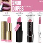 MAC Snob Lipstick Dupes