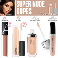 KWW Beauty x Mario Super Nude High Shine Gloss Dupes