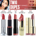 MAC Twig Lipstick Dupes