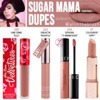 Huda Beauty Sugar Mama Liquid Matte Lipstick Dupes