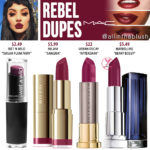 MAC Rebel Lipstick Dupes