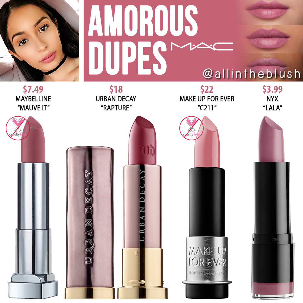 Amorous Pics mac amorous lipstick dupes - all in the blush