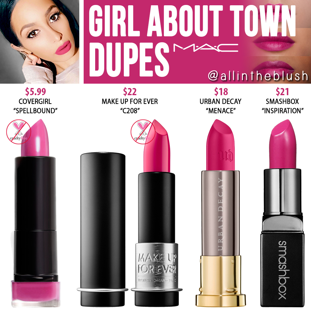 girl about town mac lipstick dupe