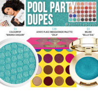 Morphe x Jaclyn Hill Pool Party Eyeshadow Dupes [The Jaclyn Hill Palette]