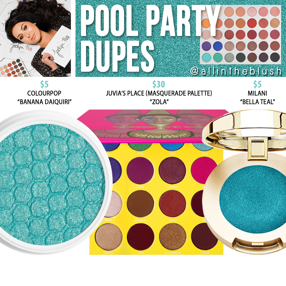Morphe X Jaclyn Hill Pool Party Eyeshadow Dupes The Jaclyn Hill