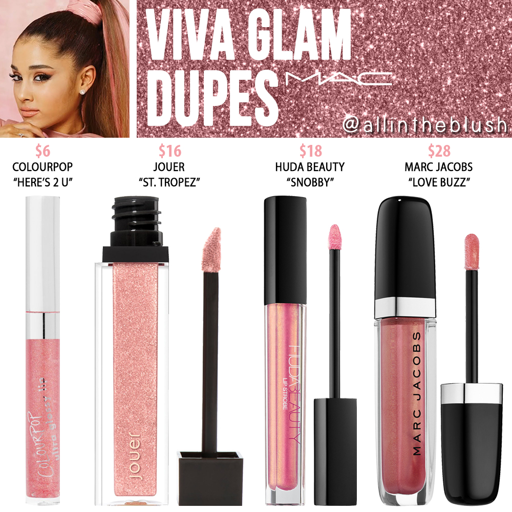 MAC Viva Glam Ariana Grande Lipglass Dupes - All In The Blush Mac Viva Glam Ii Dupe