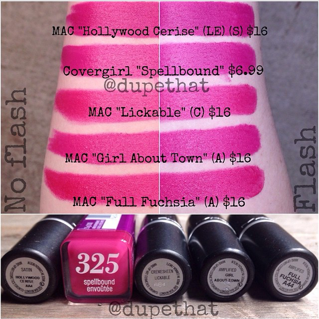 covergirl spellbound vs mac girl about town