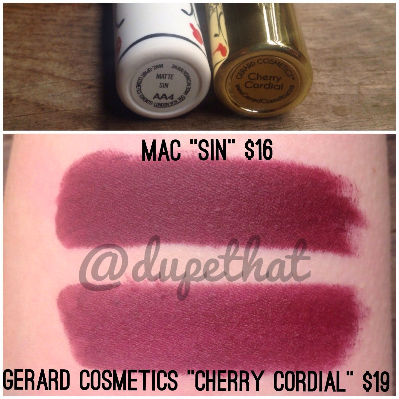 MAC Sin Lipstick Dupes - All In The Blush