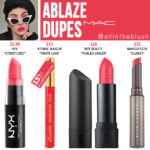 MAC Ablaze Lipstick Dupes