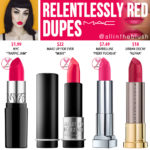 MAC Relentlessly Red Lipstick Dupes