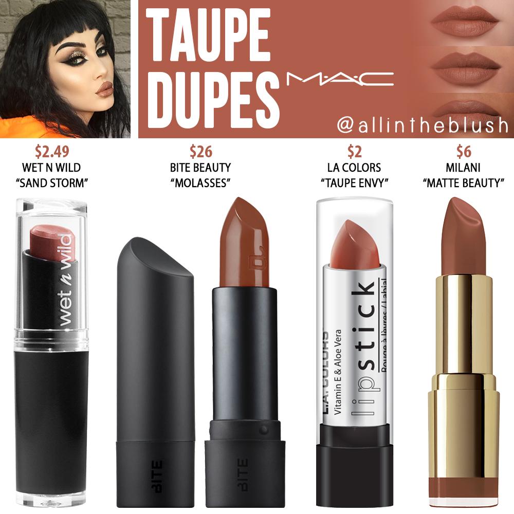 MAC Taupe Lipstick Dupes