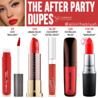 Kylie Cosmetics The After Party Liquid Lipstick Dupes