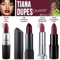 Colourpop Tiana Crème Lux Lipstick Dupes