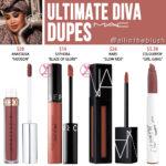 MAC Ultimate Diva Retro Matte Liquid Lipcolour Dupes