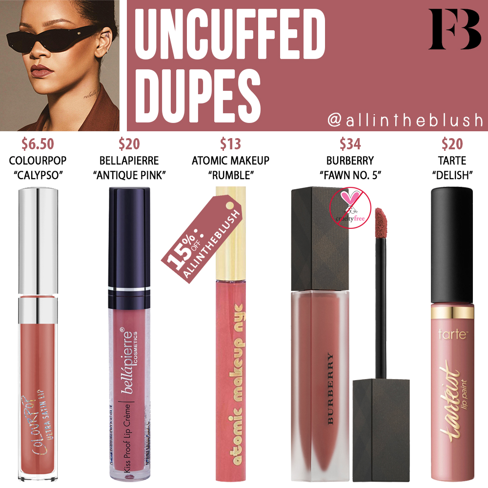 Fenty Beauty Uncuffed Stunna Lip Paint Dupes All In The