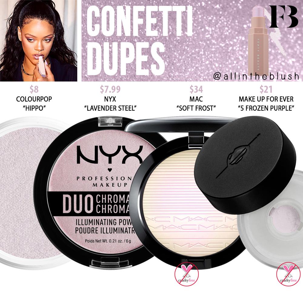 Fenty Beauty Confetti Match Stix Shimmer Skinstick Dupes