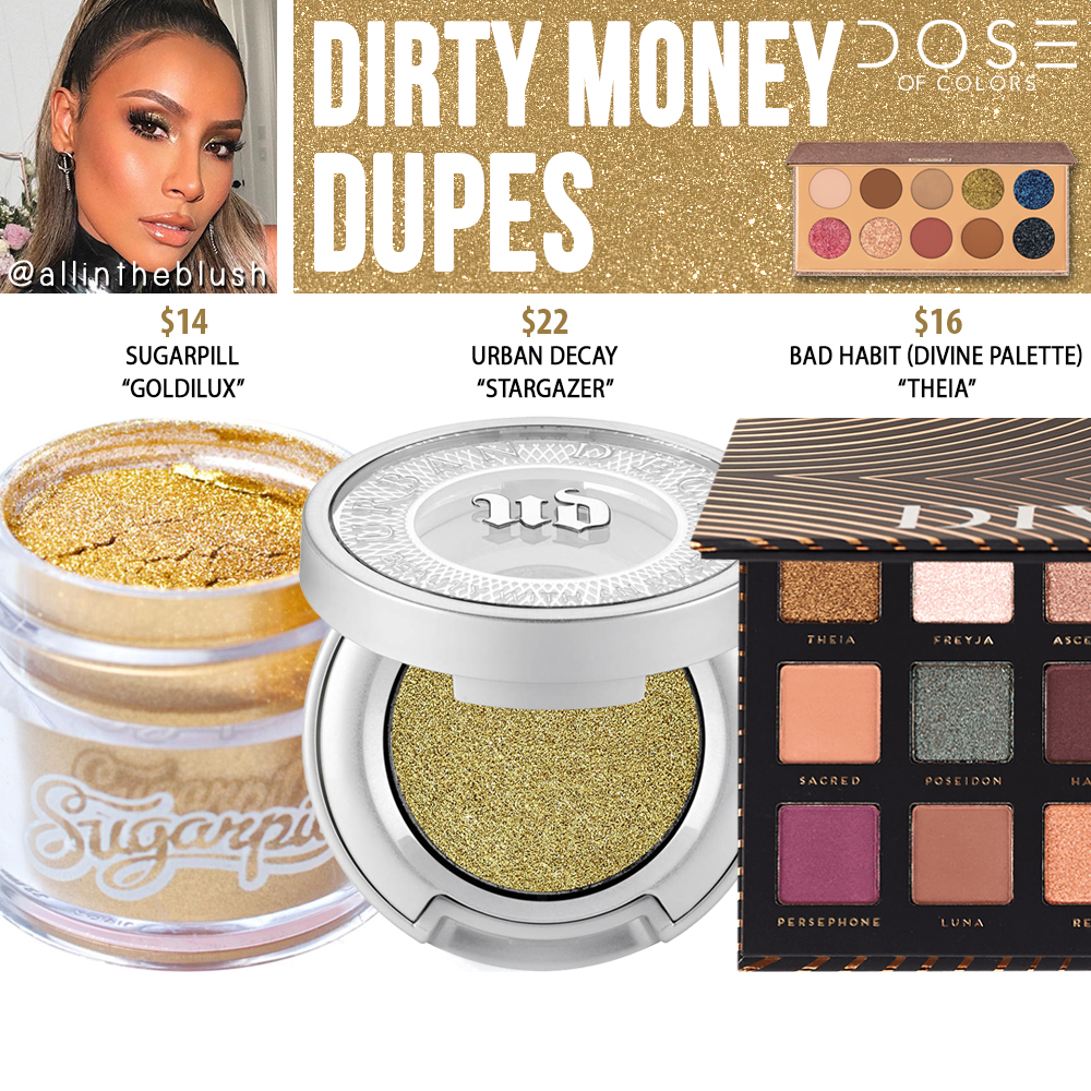 Dose of Colors Dirty Money Eyeshadow (FRIENDCATION) Dupes