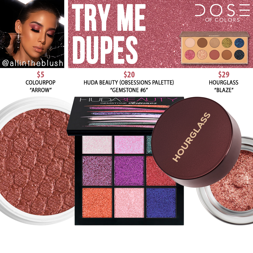 Dose of Colors Try Me Eyeshadow (FRIENDCATION) Dupes