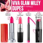 MAC Viva Glam Miley Cyrus Lipstick Dupes