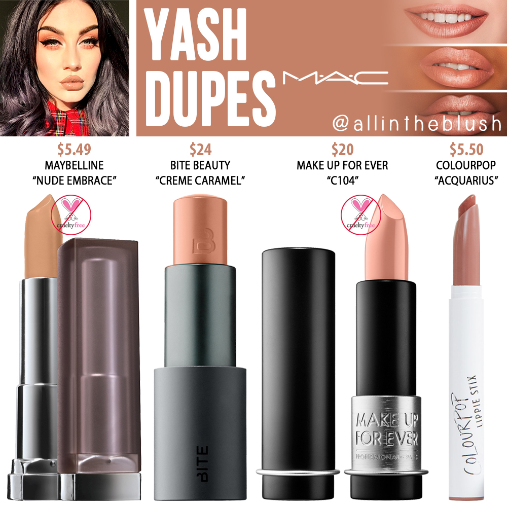 Mac Yash Lipstick Dupes All In The Blush