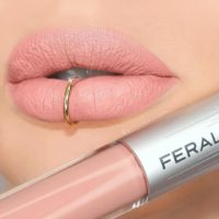 Review: Feral Cosmetics Liquid Matte Lipsticks. Rose All Day Liquid Lipstick Lip Swatch