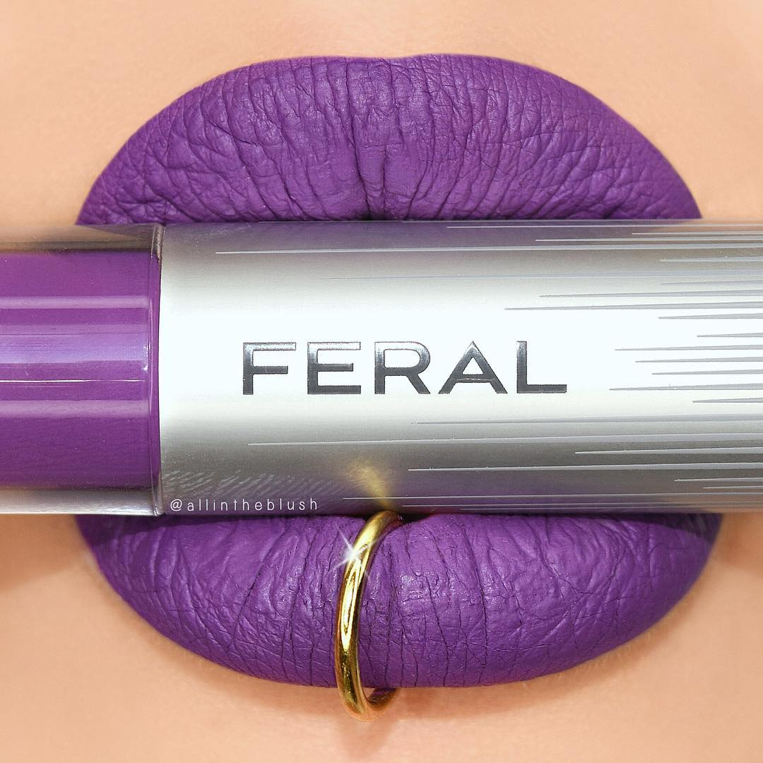Review: Feral Cosmetics Liquid Matte Lipsticks. Unicorn Poop Liquid Lipstick Lip Swatch