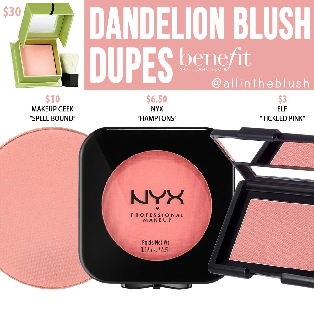 Benefit Dandelion Blush Dupes