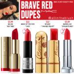 MAC Brave Red Lipstick Dupes