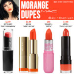 MAC Morange Lipstick Dupes