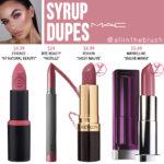 MAC Syrup Lipstick Dupes
