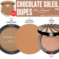 Too Faced Chocolate Soleil Bronzer Dupes